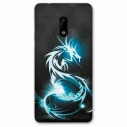 Coque Nokia 4.2 Dragon Bleu