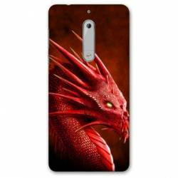 Coque Nokia 4.2 Dragon Rouge