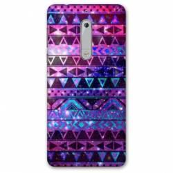 Coque Nokia 4.2 motifs Aztec azteque violet