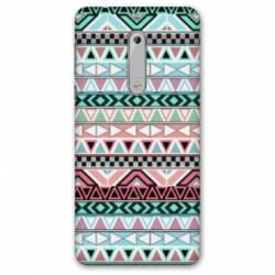 Coque Nokia 4.2 motifs Aztec azteque turquoise