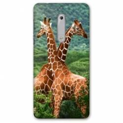 Coque Nokia 4.2 savane Girafe Duo