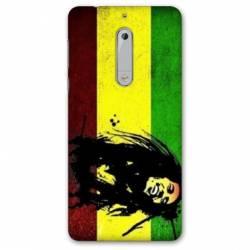 Coque Nokia 4.2 Bob Marley Drapeau
