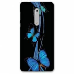 Coque Nokia 4.2 papillons bleu
