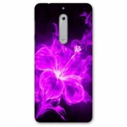 Coque Nokia 4.2 fleur hibiscus violet