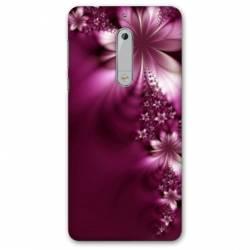 Coque Nokia 4.2 fleur violette montante