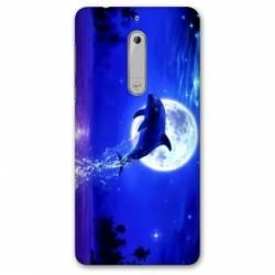 Coque Nokia 4.2 Dauphin lune
