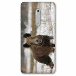 Coque Nokia 4.2 chasse sanglier Neige