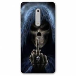 Coque Nokia 4.2 tete de mort Doigt
