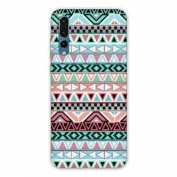 Coque Huawei  Honor 20 Pro motifs Aztec azteque turquoise