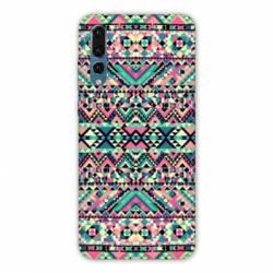 Coque Huawei  Honor 20 Pro motifs Aztec azteque rose