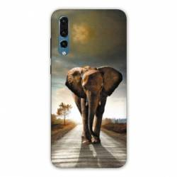 Coque Huawei  Honor 20 Pro savane Elephant route