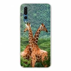 Coque Huawei  Honor 20 Pro savane Girafe Duo