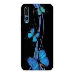 Coque Huawei  Honor 20 Pro papillons bleu