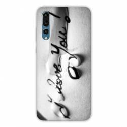 Coque Huawei  Honor 20 Pro I love you larme B