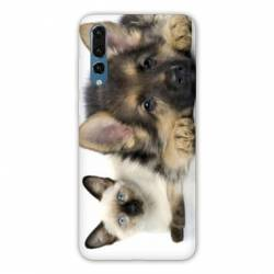 Coque Huawei  Honor 20 Pro Chien vs chat