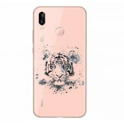 Coque transparente Samsung Galaxy A20e tigre