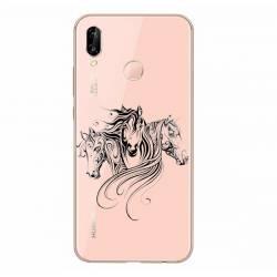 Coque transparente Samsung Galaxy A20e chevaux