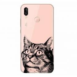 Coque transparente Samsung Galaxy A20e Chaton