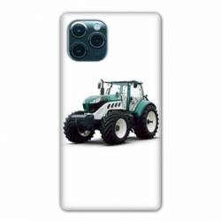 """Coque Iphone 11 (5,8"""") Agriculture Tracteur Blanc"""