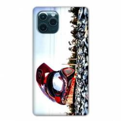 "Coque Iphone 11 (5,8"") Moto Casque Cross"