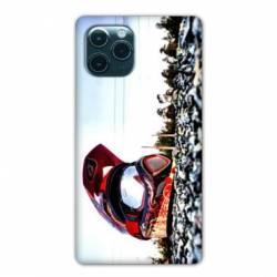 """Coque Iphone 11 (5,8"""") Moto Casque Cross"""