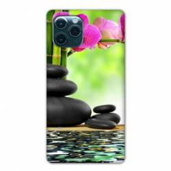 """Coque Iphone 11 (5,8"""") orchidee eau"""
