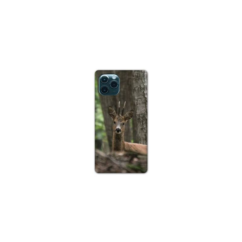 """Coque Iphone 11 (5,8"""") chasse chevreuil Bois"""