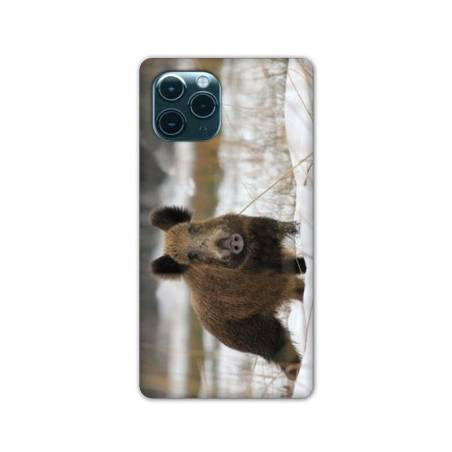"Coque Iphone 11 (5,8"") chasse sanglier Neige"