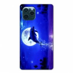 "Coque Iphone 11 (5,8"") Dauphin lune"