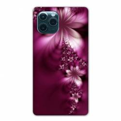 """Coque Iphone 11 (5,8"""") fleur violette montante"""