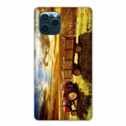 "Coque Iphone 11 Pro (6,1"") Agriculture Tracteur color"