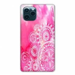 """Coque Iphone 11 Pro (6,1"""") Etnic abstrait Bouclier rose"""
