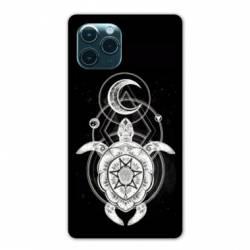 """Coque Iphone 11 Pro (6,1"""") Animaux Maori Tortue noir"""