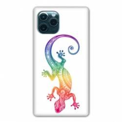"""Coque Iphone 11 Pro (6,1"""") Animaux Maori Salamandre color"""