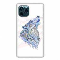 """Coque Iphone 11 Pro (6,1"""") Ethniques Loup Color"""