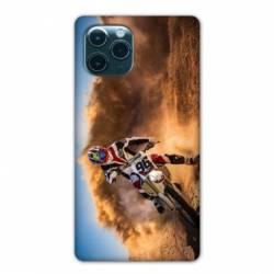 "Coque Iphone 11 Pro (6,1"") Moto Cross Blanc"