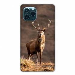 """Coque Iphone 11 Pro (6,1"""") chasse chevreuil Blanc"""