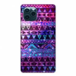 "Coque Iphone 11 Pro Max (6,5"") motifs Aztec azteque violet"