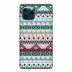 "Coque Iphone 11 Pro Max (6,5"") motifs Aztec azteque turquoise"