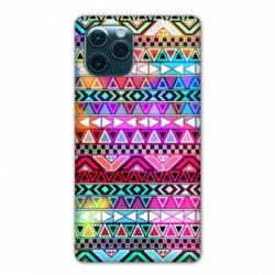 "Coque Iphone 11 Pro Max (6,5"") motifs Aztec azteque rouge"