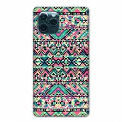 "Coque Iphone 11 Pro Max (6,5"") motifs Aztec azteque rose"