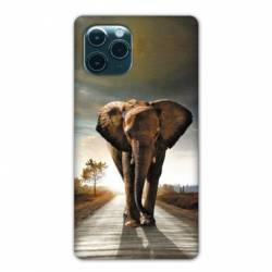 """Coque Iphone 11 Pro Max (6,5"""") savane Elephant route"""