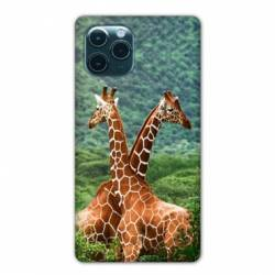 "Coque Iphone 11 Pro Max (6,5"") savane Girafe Duo"