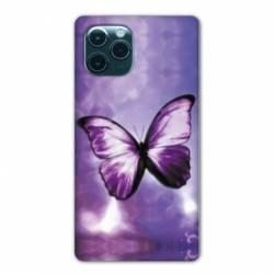 """Coque Iphone 11 Pro Max (6,5"""") papillons violet et blanc"""
