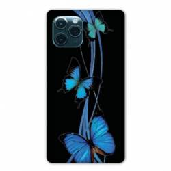 "Coque Iphone 11 Pro Max (6,5"") papillons bleu"