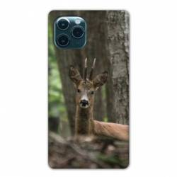 """Coque Iphone 11 Pro Max (6,5"""") chasse chevreuil Bois"""