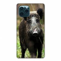 """Coque Iphone 11 Pro Max (6,5"""") chasse sanglier bois"""