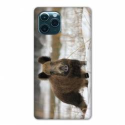 """Coque Iphone 11 Pro Max (6,5"""") chasse sanglier Neige"""