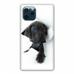 "Coque Iphone 11 Pro Max (6,5"") Chien noir"