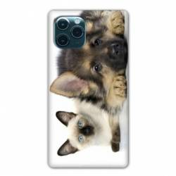 """Coque Iphone 11 Pro Max (6,5"""") Chien vs chat"""